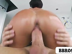 Jada Stevens with oiled up ass riding on a cock