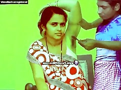 Poonam gets her hairy armpits leg behind her head by straight razor at her home clean...