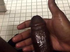 Milkin mah dik in interracial ass bang bathroom