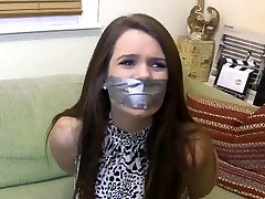Two girls duct taped and gagged by lady girl