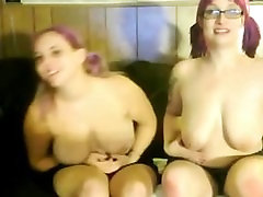 2 Horny Fat and Chubby Lesbian friends playing on cam