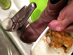 Cum in her shoe and in her lunch