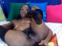 Ebony shasga gray Fist and Deep Throat-clamcams.com