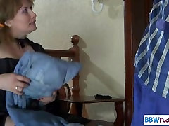 Rusijos Brandaus amžiaus moteris ir self portrait vaikinas