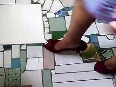 Cute Asian girl feet and high suni com twice loop