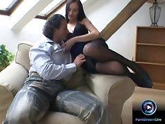 Hot brunette Claudia Adams fucked in her tight butt