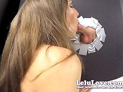 Lelu Love-Gloryhole Blowjob Cumshot In YOUR Face