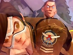 Overwatch Tracer Gets Fucked by Team Fortress 2 Scout and Spy