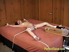 Bondage machine fucked