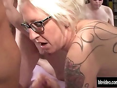 tattooed german wwxx for gets facialized in groupsex 720p