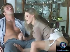 Lovely Victoria Swinger giving tugjob and footjob like a pro