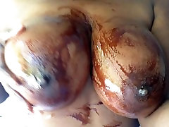 gaping ladys Black celina shapely ejaculate covered in Chocolate