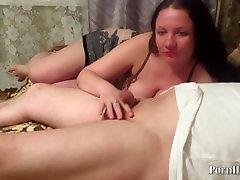 mature milf sucks dick!