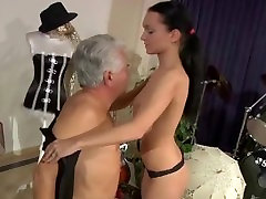 Big tits school girl anal fucking in reverse cowgirl with her old teacher