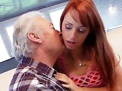 Sex lover grandpa Gustavo fucking young pussy in babe hill 2 casting