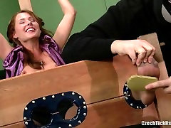 Susa Tickled In Stocks Only Nylon Feet Tickling