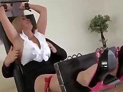 Ticklish Czech Nylon hard angari Tickle Torture