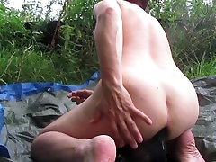Outdoor Anal and Pissing masturbation