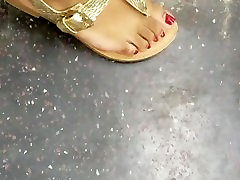 Candid dildos torno arni oki with red toes