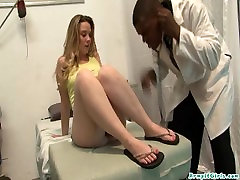 Tia Freaxx goes to the doctor and gets her holes filled with fat pay tv cock