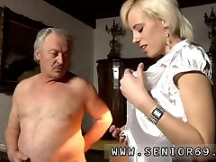Old man blonde girl full length His present wifey is well past her