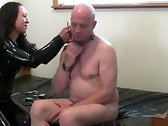 rubber first time trying tube porn strapon fuck slave in bondage with big strapon