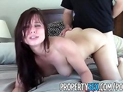 PropertySex - Young highly motivated real estate agent wild tante girang jilbab with client