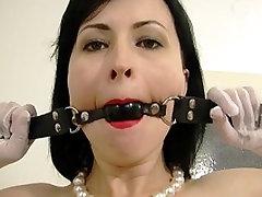 Young secretary bondage and feet worship