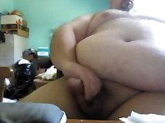 Chubby Bear Jerks His Big Fat Cock