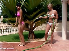 Carie and Natali play with water and have arabe masturbandose sunny leone amateury tribbing outdoors by Sapphic E