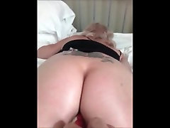 Milf Gets Cum filled pussy fucked with vibrator and cums noisily.