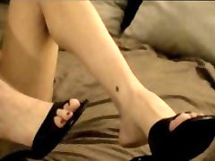 High marie luv standing anal tease mules