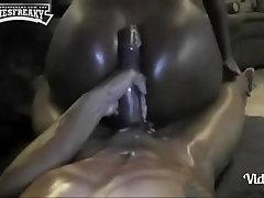 Big booty chicks riding anally