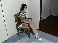 Japanese damsel Hikari Asano tied up