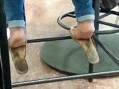Candid Ebony Feet in Cafeteria 16