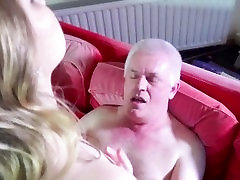 Young naughty escort ass jean veal jean crazy fucking for old man cum swallows