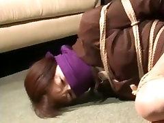 Japanese secretary struggling in bondage