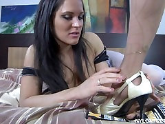 RUSSIAN MAID AND MISTRESS FULL NYLON FOOT WORSHIP