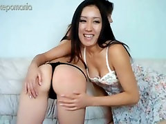 Asian Lesbian Spanking each Other
