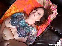Busty blindfolded doubles MILF Vanya Vixen Massages Big Black Cock