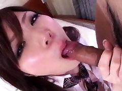Riko Masaki, schoolgirl in heats, spins the dick like a pro