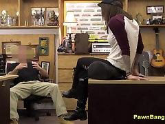 Hot Brunette Gives Amazing BJ & Pussy Fuck For Cash Reward