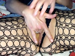 Finger Fucking Myself in Fishnets until I Squirt Everywhere