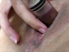 Big clit rubbing Squirting orgasm mommy mom step pump