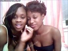 Ebony busty black whores kissing