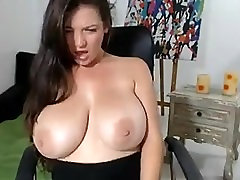 Young webcam girl plays with her isreli couple breasts