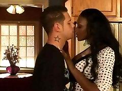 super hot ebony milf seduces young stud