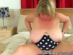 British sunyleoun xxx hd vdo Melons Marie plays with a dildo