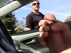 jerking off in do not give while older man watches