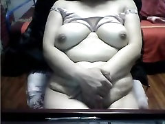 Chinese Granny with 1st time anual MONSTER TITTIES